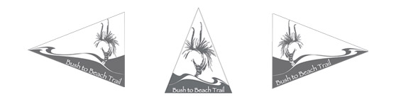 Signage for Bush to Beach Trail